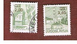JUGOSLAVIA (YUGOSLAVIA)   - SG 1832.1833  -    1978  TOURISM: 2 STAMPS OVERPRINTED   -  USED - 1945-1992 République Fédérative Populaire De Yougoslavie