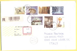 MACEDONIA - 2012 - 7 Stamps (Butterfly, Fish, Frog, Flower, Europa Cept) - Registered - Viaggiata Da Skopje Per Celle Li - Macedonia