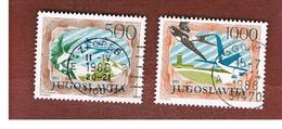 JUGOSLAVIA (YUGOSLAVIA)   - SG 2197.2199  -    1985  AIR: BIRDS & AIRPLANES (COMPLET SET OF 2)   -  USED - 1945-1992 Repubblica Socialista Federale Di Jugoslavia