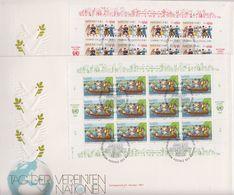 UNO Geneva 1987 UN Day 2 Sheetlets FDC (F7830) - FDC