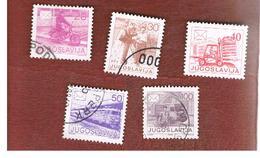 JUGOSLAVIA (YUGOSLAVIA)   - SG 2265a.2271  -    1986 POSTAL SERVICES    -  USED - 1945-1992 Repubblica Socialista Federale Di Jugoslavia