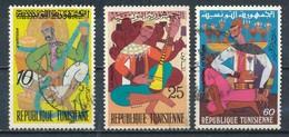 °°° TUNISIA - Y&T N°730/31/34 - 1972 °°° - Tunisia (1956-...)