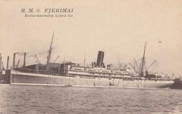 "Rotterdamsche Lloyd Co. Ocean Liner ""R.M.S. FJERIMAI"" , 00-10s - Steamers"