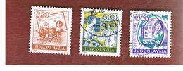 JUGOSLAVIA (YUGOSLAVIA)   - SG 2277.2281 -    1988 POSTAL SERVICES    -  USED - 1945-1992 Repubblica Socialista Federale Di Jugoslavia