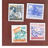 JUGOSLAVIA (YUGOSLAVIA)   - SG 2279.2283a -    1989 POSTAL SERVICES    -  USED - 1945-1992 Repubblica Socialista Federale Di Jugoslavia