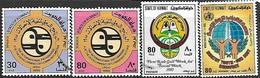 Kuwait  1985   Sc#983-4, 986, 992 Better Used   2016 Scott Value $5.05 - Kuwait