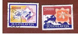 JUGOSLAVIA (YUGOSLAVIA)   - SG 2520 -    1989 AIR: POSTAL SERVICES (COMPLET SET OF 2) -  USED - 1945-1992 Repubblica Socialista Federale Di Jugoslavia