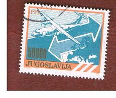 JUGOSLAVIA (YUGOSLAVIA)   - SG 2576  -    1989  AIRPLANES: AERITALIA  ATR 42 -  USED - 1945-1992 Repubblica Socialista Federale Di Jugoslavia