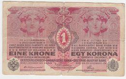 Austria P 20 - 1 Krone 1.12.1916 - Fine - Austria