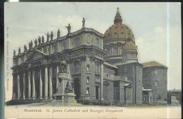 CPA Canada Montréal - St James Cathédral And Bourget Monument - Non Circulée - Montreal