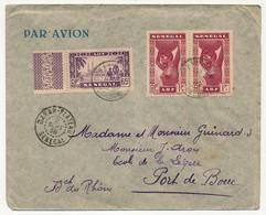 SENEGAL - Belle Enveloppe Affr. Composé - Dakar Plateau 1938 - Sénégal (1887-1944)