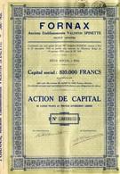Action De Capital De Fornax Hal Anciens établ. Valentin Spinette 1931 Fabrication De Fours Industriels - Actions & Titres