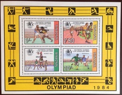 Tanzania 1984 Olympics Winners Minisheet MNH - Tansania (1964-...)