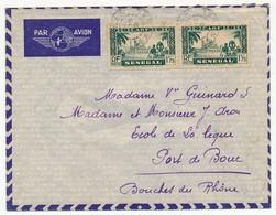 SENEGAL - Belle Enveloppe Affr. 2x 1,75 (paire) - Obl Dakar Sénégal (faible) 1939 - Sénégal (1887-1944)