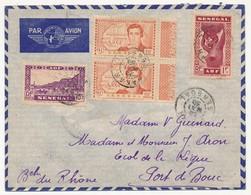 SENEGAL - Belle Enveloppe Affr. Composé Dont 2x 90c René Caillié - Dakar Sénégal 1939 - Sénégal (1887-1944)