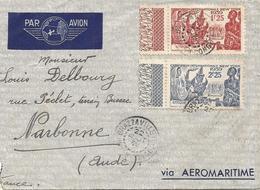 AEF Congo 1939 Brazzaville World EXPO New York Gendarme Cover - Wereldtentoonstellingen