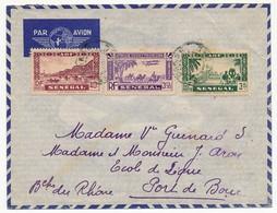 SENEGAL - Belle Enveloppe Affr. Composé -  Dakar Sénégal 1939 - Lettres & Documents