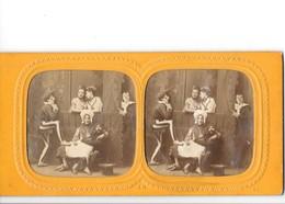 PHOTO STEREOSCOPIQUE - Acteurs Et Actrices Du Café De L'Eldorado - Fotos Estereoscópicas