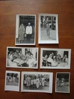 Lot De 7 Photos D'une Famille Française Vivant à Saïgon - 1950-55 - Places