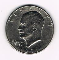 //  U.S.A.  EISENHOWER  1 DOLLAR  1971 - Émissions Fédérales