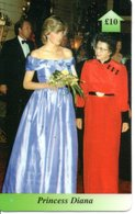Princesse DIANA Princess Lady Di Angleterre Carte Prépayée (G 117) - Personnages