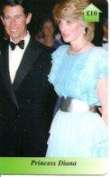 Princesse DIANA Princess Prince CHARLES Angleterre Carte Prépayée (G 118) - Personnages