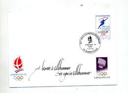 Lettre Cachet Albertville Jeu Olympique - Marcophilie (Lettres)