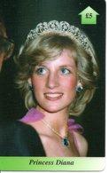 Princesse DIANA Princess  Lady Di Angleterre Carte Prépayée (G 119) - Personnages