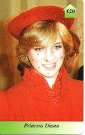 Princesse DIANA Princess  Angleterre Carte Prépayée (G 120) - Personnages
