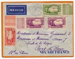 SENEGAL - Belle Enveloppe Affr. Composé  -  Dakar Sucoursale 1937 - Sénégal (1887-1944)