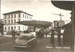 CHIASSO - DOGANA SVIZZERA - AUTO D'EPOCA - VIAGGIATA 1957 - (rif. L55) - TI Tessin