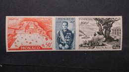 Monaco 1956 Essai De Couleur Non Dentelé  Triptyque 450 A 452  Neuf ** , Proof , Imperf MNH - Non Classés