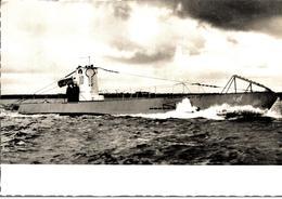Cpsm Rare Marine Fotograf Renard Kiel Bateau Guerre Avec Pavillon Drapeau Croix Gammée U 10 Typ II B - Guerra