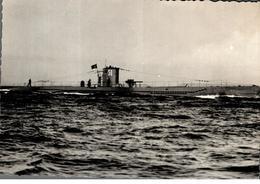 Cpsm Rare Marine Fotograf Renard Kiel Bateau Guerre Avec Pavillon Drapeau Croix Gammée U 51 Typ VII B - Guerra