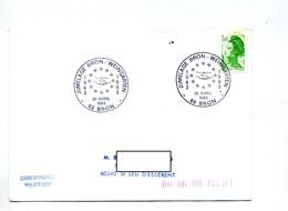 Lettre Cachet Bron Jumelage Weingarten Flamme Beauvais Coutumes - Marcophilie (Lettres)