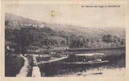 GAVIRATE-VARESE-UN SALUTO DAL LAGO-CARTOLINA VIAGGIATA IL 7-9-1924 - Varese
