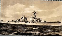 Cpsm Rare Marine Fotograf Renard Kiel Bateau Guerre Avec Pavillon Drapeau Croix Gammée 61 - Guerra