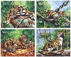Ref. 74967 * MNH * - MALAYSIA. 1995. CLOUDED LEOPARD . PANTERA NEBULOSA - W.W.F.