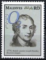 MALDIVES - Joseph Priestley - Oxygen Physik Fisica Fisico Physics Oxygène Sauerstoff Oxígeno Ossigeno - Physique