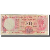 Billet, Inde, 20 Rupees, KM:82c, TTB - India
