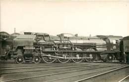 100519B TRANSPORT TRAIN CHEMIN DE FER - PHOTO VILAIN - Locomotive 241P4 BERCY PARIS - Stations With Trains