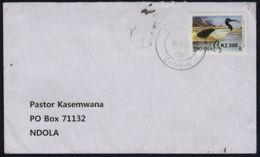 Cc0045 ZAMBIA 2011, Bird Stamp On Kawambwa Cover To Ndola - Zambia (1965-...)