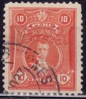 Peru 1924-1929, Augusto Leguia, 10c, Sc#245, Used - Peru