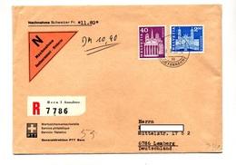 Lettre Recommandee Contre Remboursement Berne Sur Geneve Einsiedeln - Marcophilie