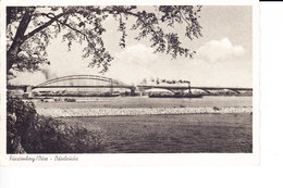 Ak Fürstenberg/Oder, Eisenhüttenstadt, Oderbrücke, 1940 - Eisenhüttenstadt