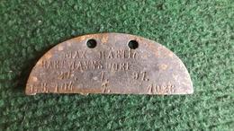 Allemagne Plaque IDENTITE Erkennungsmarke IR 104  SAINT MIHIEL REGION - 1914-18