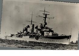 Cpsm Rare Marine Fotograf Renard Kiel Bateau Guerre Kreuzer Königsberg - Guerra