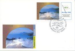 ITALIA - FDC MAXIMUM CARD 2002 - PATRIMONIO UNESCO - ISOLE EOLIE - ANNULLO SPECIALE - Cartoline Maximum