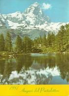 """Calendario """"Auguri Del Portalettere 1981"""" Con Calendario, Tariffe Postali E Monte Cervino - Small : 1981-90"""