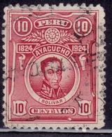 Peru 1924, Simón Bolivar, 10c, Sc#237, Used - Peru